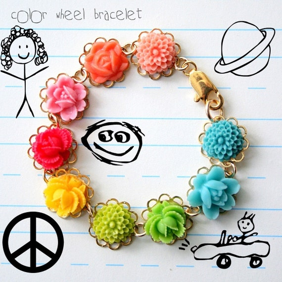 Children Color wheel Bracelet, Colorful, Rainbow, Birthday