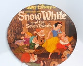 "Snow White One Placemat. Charger, table topper, home decor, wall accent 12"" recycled album cover/vinyl recordO"