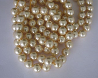 2.5mm 8inches long large hole shell pearl in 12m