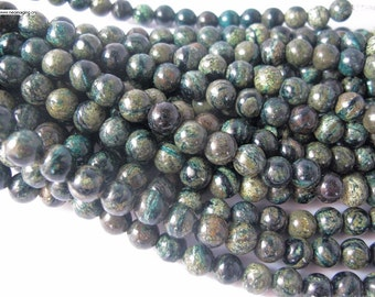 10mm 8inches mecaceous jasper large hole beads