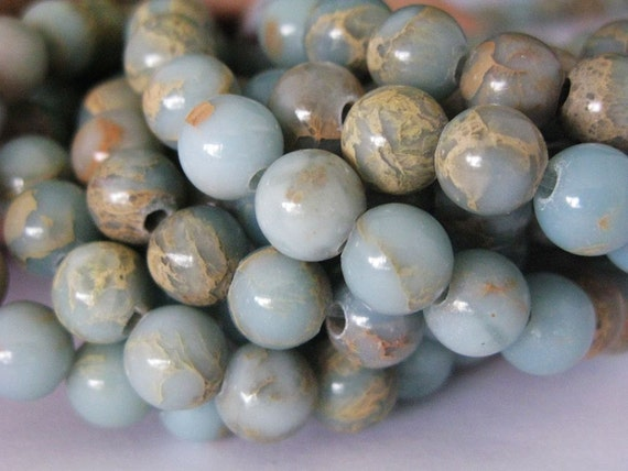 2.5mm largehole 8 inches long 8 mm Afrian opal beads