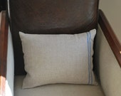 Natural Linen Pillow Cover -  (Includes Down/Feather Fill insert)