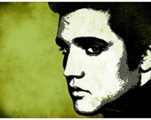 Music legend Elvis Presley Pop Art Print