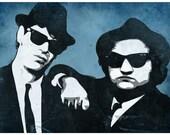 Blues Brothers Pop Art Print
