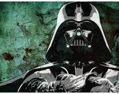 Star Wars Darth Vader from the Star Wars Saga Pop Art Print 5 x 7