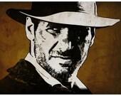 Indiana Jones Pop Art Print