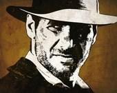 Indiana Jones Pop Art Print 8 x 10