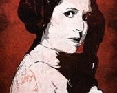 Star Wars Princess Leia from the Star Wars Saga Pop Art Print 11 x 14