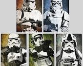 Star Wars Imperial Forces Pop Art Print Set 5 x 7