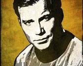 Captain Kirk from Star Trek Pop Art Print 8 x 10