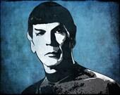 Spock from Star Trek Pop Art Print 11 x 14