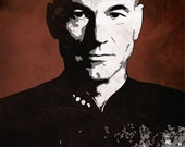 Jean Luc Picard from Star Trek the Next Generation 5 x 7 Pop Art Print