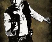 Han Solo from Star Wars Pop Art Print 8 x 10