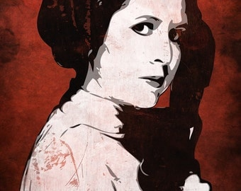 Star Wars Princess Leia from the Star Wars Saga Pop Art Print 8 x 10