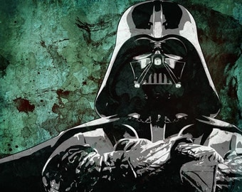 Star Wars Darth Vader from the Star Wars Saga Pop Art Print 8 x 10