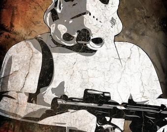 Star Wars Storm Trooper Pop Art Print 8 x 10