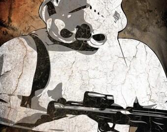 Star Wars Storm Trooper Pop Art Print 5 x 7