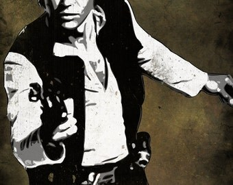 Han Solo from Star Wars Pop Art Print 5 x 7
