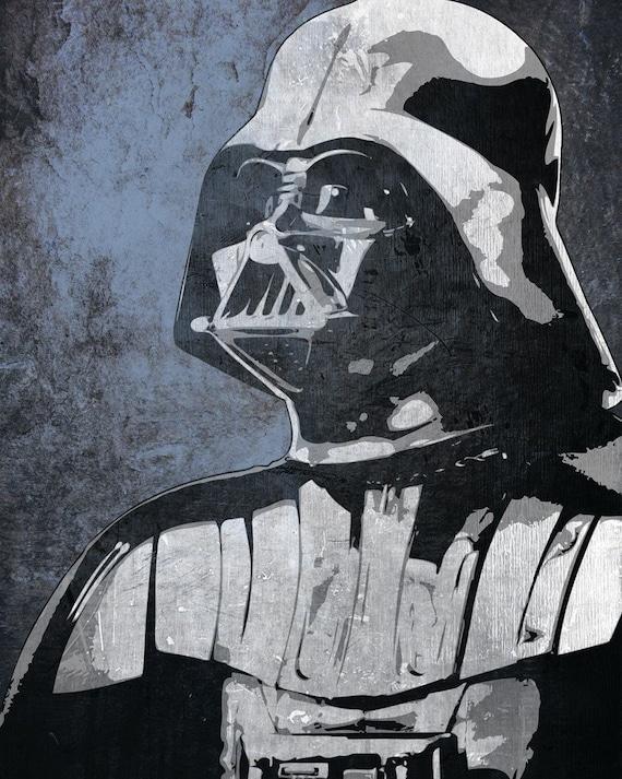 Star Wars Darth Vader from the Star Wars Saga Pop Art Print 8 x 10