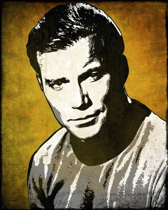 Captain Kirk from Star Trek Pop Art Print 8 x 10