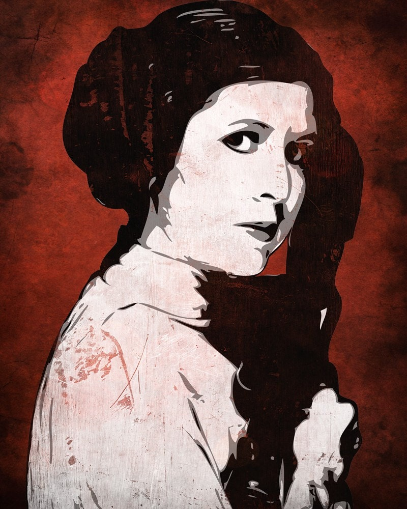 star wars princess leia from the star wars saga pop art print. Black Bedroom Furniture Sets. Home Design Ideas