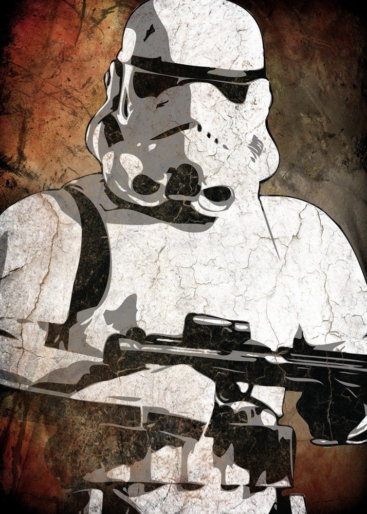 Star Wars Storm Trooper Pop Art Print 5 x 7 by cutitoutart ...
