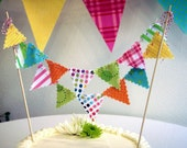 Cake Bunting Whimsical Festive Banner on Bakers Twine
