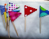 Cupcake Toppers Circus Flags 36 Count