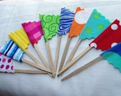 Cupcake Toppers Circus Flags 24 Count