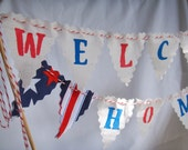 Welcome Home Cake Bunting Patriotic Military Welcome