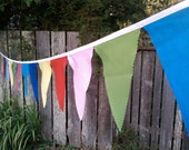 Fabric Bunting Party Flags Decoration, Birthday Banner Bunting Flags Long Strand of Solid Colored Pennants large size circus rainbow party