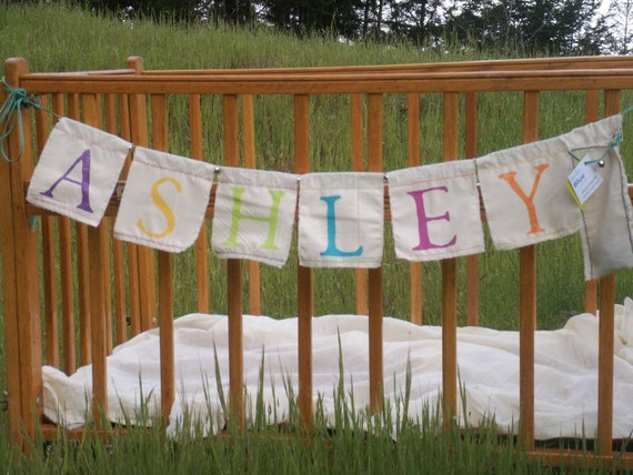 Personalized Banner - customize your own handpainted garland with any name