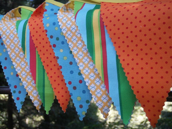 Fabric Bunting Flags - Party Buntings by Boo Bah Blue