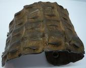 Crocodile Leather Men's Cuff in Chocolate Brown Back Skin