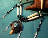 Depths of the Ocean - Shark tooth and bone necklace