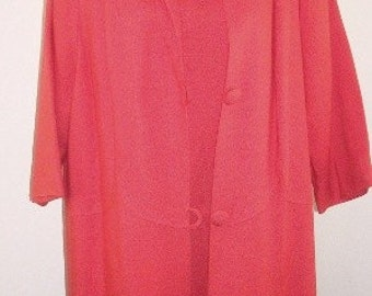 Vintage Leslie Pomer Swing Coat and Dress