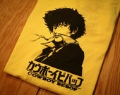 Cowboy Bebop Spike Spiegel Inspired Screenprinted T-Shirt