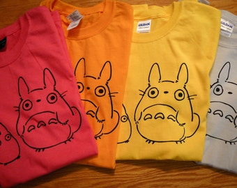Totoro Inspired Screenprinted T-Shirt