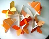 Origami Butterflies in Shades of Orange