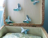 Origami Butterflies in Shades of Blue