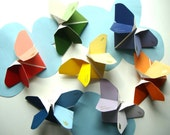 Origami Butterflies in Shades of Rainbow