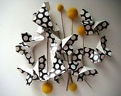Origami Butterflies in Black and White