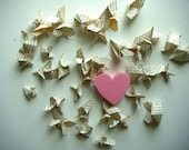 Mini Origami Butterflies in Pretty Text