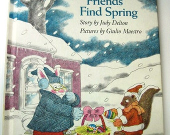 THREE FRIENDS Find SPRING - Vintage Children's Book