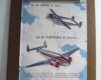LOCKHEED AIRCRAFT - Vintage 1941 Magazine Advertisement