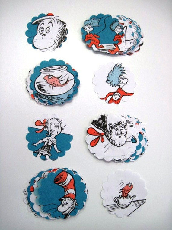 CAT in the HAT - Dr. Seuss - Recycled Paper Punches - Over 75