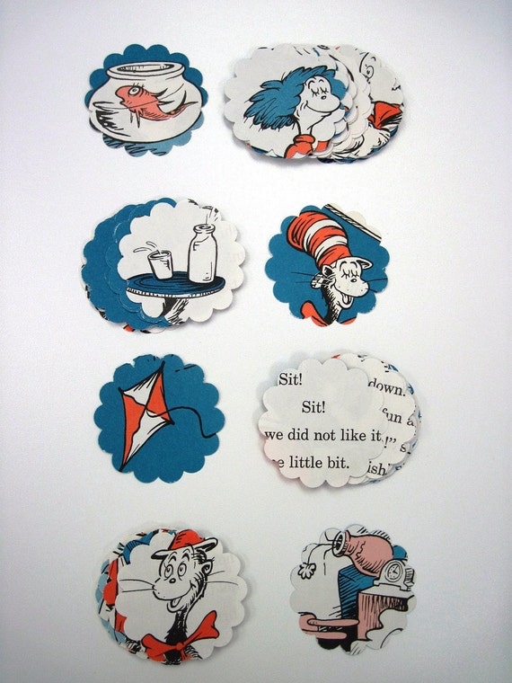 CAT in the HAT - Dr. Seuss - Recycled Paper Punches - Over 60