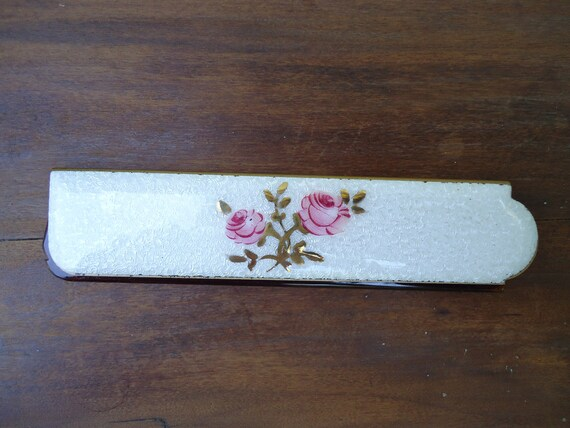 Vintage Enamel Folding Comb