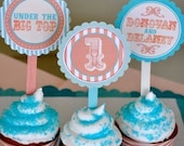 Vintage Circus Birthday PRINTABLE Party Circles by Love The Day