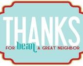 Christmas Neighbor Gift Tag - PRINTABLE by Love The Day